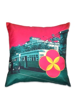 Jalebi Road Show Poly Silk Cushion Cover - India Circus