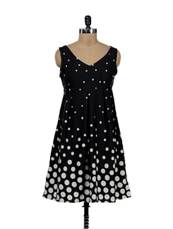 Delightful Polka Dotted Dress - Tapyti