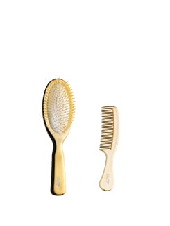 Gold Brush & Comb Set - DIVO
