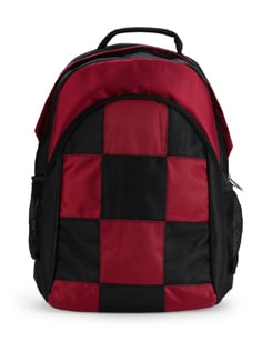 Backpack In Red And Black Checks - SUNNY ACCESSORY
