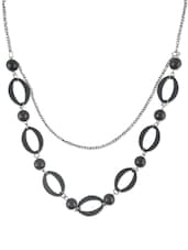 Onyx Statement Necklace (Set Of 2) - DIOVANNI