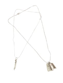 Love Letter And Pen Pendant Set - DIOVANNI
