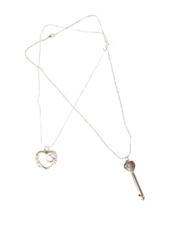 Stolen Heart And Key Pendant Set - DIOVANNI