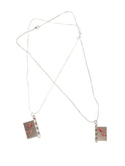 Silver Book Of Love Pendant Set - DIOVANNI