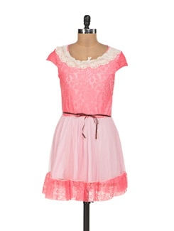 Pretty Pink Lace Dress - Sanchey