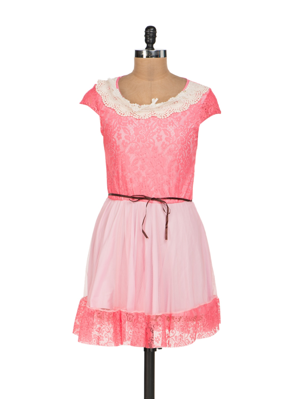 Pretty Pink Lace Dress - Sanchey
