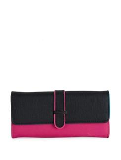 Pink & Black Colorblocked Wallet - Toniq