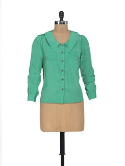 Sheeny Green Shirt - HERMOSEAR