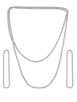 Silver Multi String Necklace - Besiva