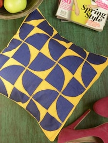 Blue Fand Cushion Cover