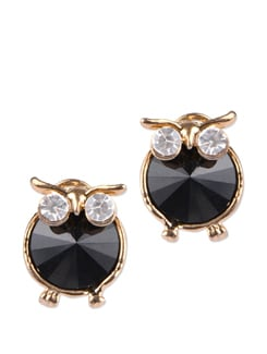 Trendy Black & Gold Studs - YOUSHINE