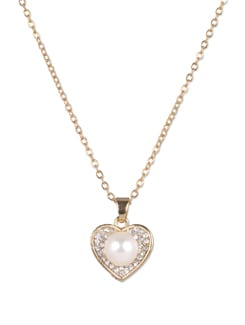 Golden Heart Pendant Necklace - YOUSHINE
