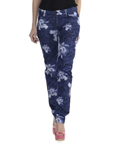 Cat Skinny Pants In Blue - Thegudlook