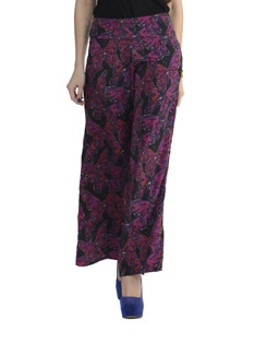 Multicolored Floral Palazzo Pants - Thegudlook
