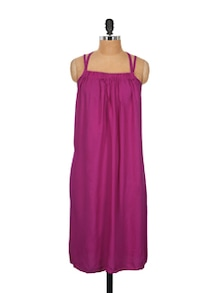 Chic Pink Halter Dress - Nineteen