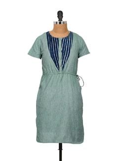 Elegant Blue & Green Kurta - Pehraan