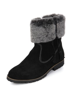 Tasseled Black Ankle Boots - La Briza