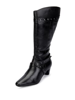 Leather Knee Boots - La Briza