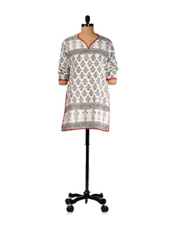 Cotton Crepe Block Printed Kurti - KILOL