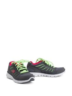 Synergy Black And Green Trainers - Skechers