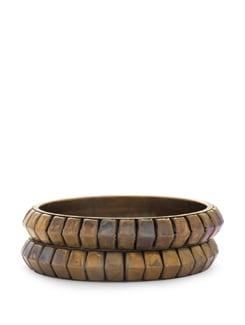 Set Of Two Gold Bangles - STRI Accessories