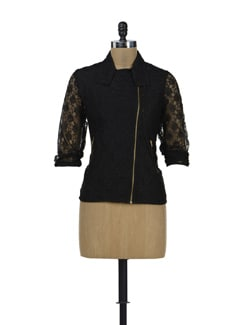 Black Lace Jacket - HERMOSEAR