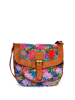 Denim Floral Cross Body Bag - Shaun Design
