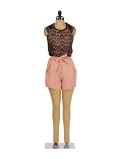 Lace And Cotton Romper - TREND SHOP