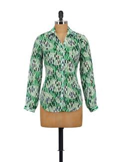 Stylish Green Printed Shirt - AKYRA