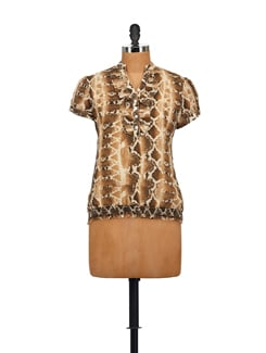 Stylish Animal Print Top - AKYRA