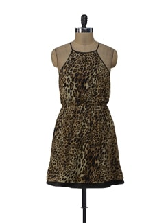 Animal Print Halter Dress - ShopImagine