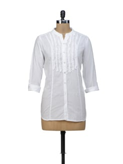 White Frill Shirt - URBAN RELIGION