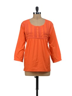 Orange Lace Top - URBAN RELIGION