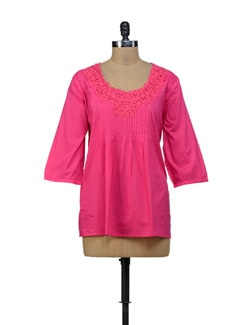 Pink Floral Lace Top - URBAN RELIGION