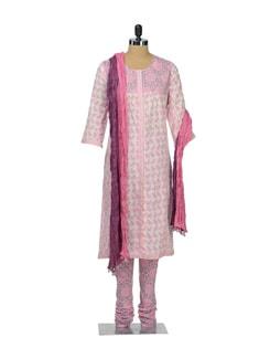 Pastel Pink Printed Suit - KILOL