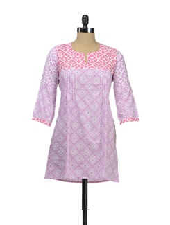 Cotton Kurti In Shades Of Pink - KILOL