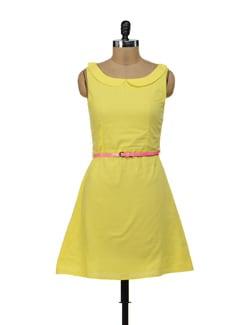 Yellow Peter Pan Collar Dress - Miss Chase