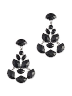 Black Chandilier Drop Earrings - Miss Chase