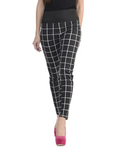 Checked Black And White Jeggings - 335th