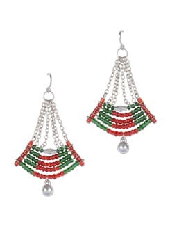 Red&Green Beaded Earrings - Trinketbag