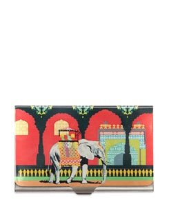 Mughal Elephant Steel Cardholder - The Elephant Company