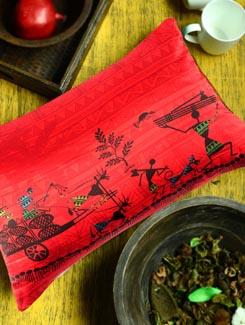 Cart Warli Cushion Cover - The Elephant Company