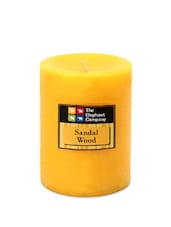 Candle Scented Sandalwood- Yellow 4in - The Elephant Company