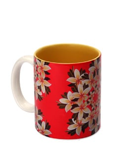 Mug Ceramic Kaleidoscope - Frangipani - The Elephant Company