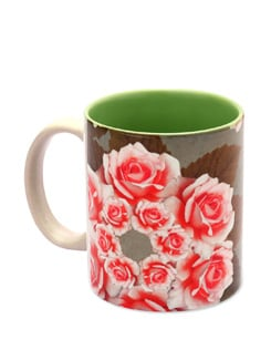 Mug Ceramic Kaleidoscope - Rose - The Elephant Company