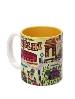 Mug Ceramic Delhi Maps - The Elephant Company