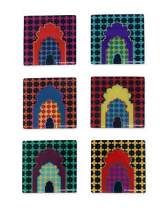 Acrylic Coasters Mehrab - The Elephant Company