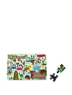 Puzzle Coaster MDF Bengaluru Map - The Elephant Company