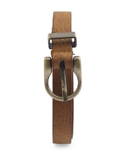 Stylish Tan Brown Textured Belt - YOUSHINE