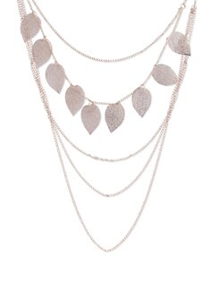 Multiple Chain Leaflet Design Necklace - YOUSHINE